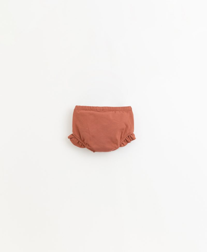 Culotte de algodón orgánico de la marca Play Up - detrás