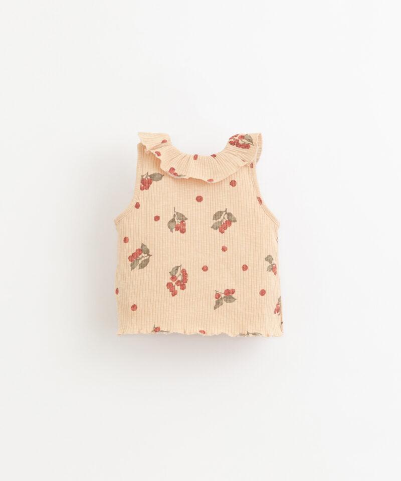 Camiseta estampada de algodón orgánico de Play Up - detrás