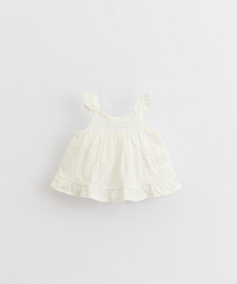 Top liso de algodón orgánico para bebé de Play Up