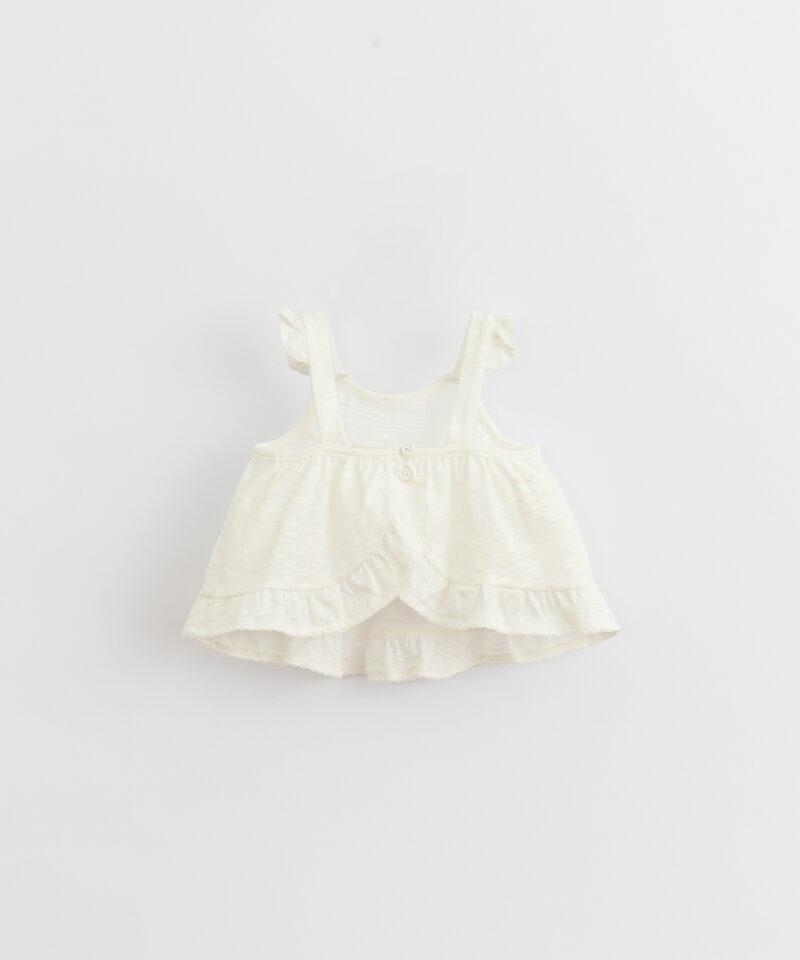 Top liso de algodón orgánico para bebé de Play Up - detrás