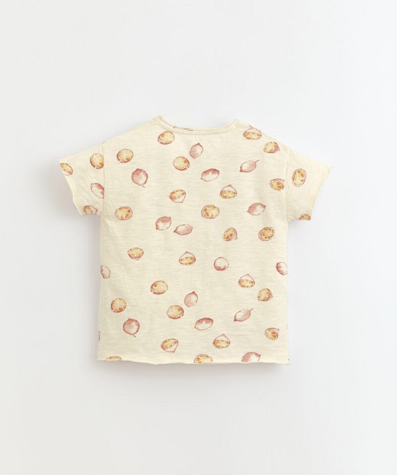 Camiseta de algodón orgánico para niño de Play Up - detrás