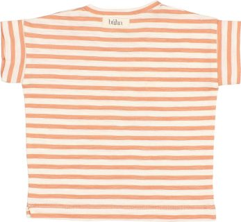 Camiseta de rayas para bebé de Búho - detrás