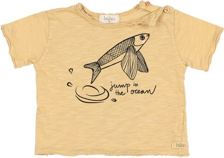 Camiseta estampada de bebé de Búho Barcelona
