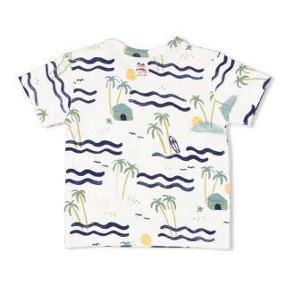 Camiseta de algodón orgánico para bebé de Feetje - detrás
