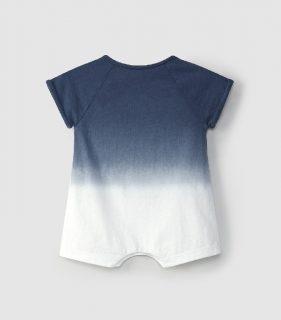Peto corto de bebé en algodón orgánico de Snug - detrás