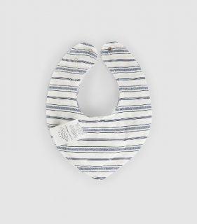 Baberos de rayas en algodón orgánico de la marca Snug
