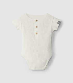 Body blanco de algodón orgánico de Snug