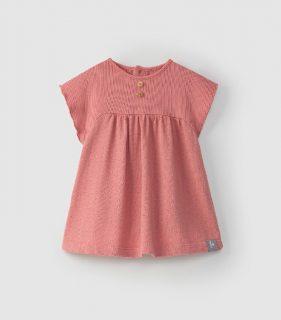 Vestido rosa de algodón orgánico de Snug