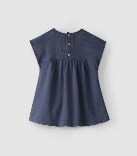 Vestido indigo de algodón orgánico de Snug