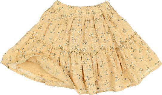 Falda de volantes en algodón orgánico de Búho - detalle