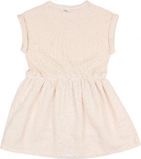 Vestido de algodón rgánico para niña de Búho - detrás