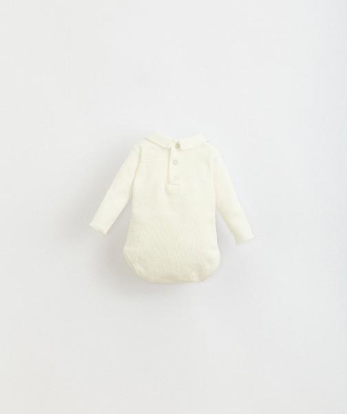 body de algodón orgánico para bebé de Play Up - detrás