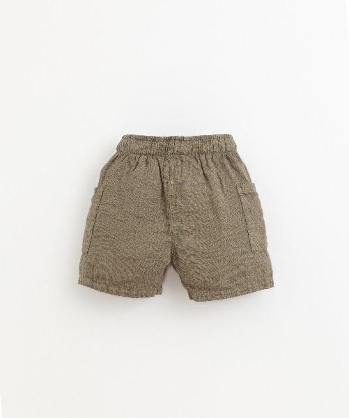 Pantalón de lino para niño de Play Up - detrás