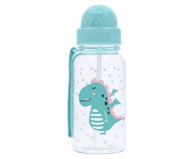 botella de agua con pajita de silicona de Tutete