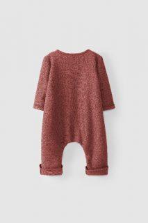 Pelele de algodón orgánico para bebé de Snug - detrás