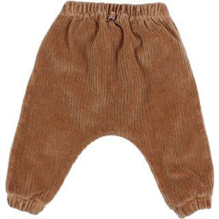 Pantalón de velour para bebé de Búho - detrás