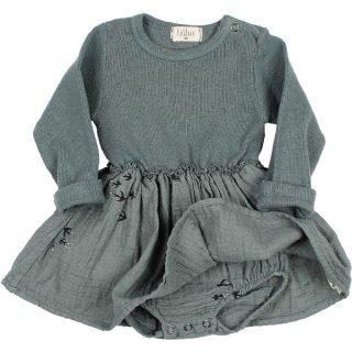 Vestido de bebé de Búho - detalle culotte