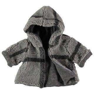 Abrigo reversible de bebé de Petit Indi -parte polar
