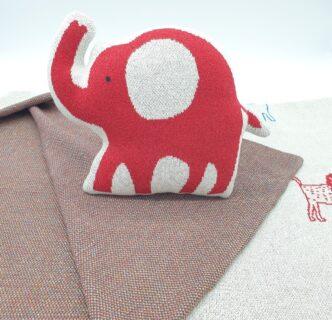 Adorable cojín de decoración en forma de elefante para bebé
