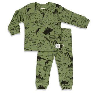Pijama infantil en algodón orgánico - detrás