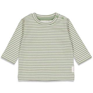 Camiseta de rayas en algodón orgánico para bebé