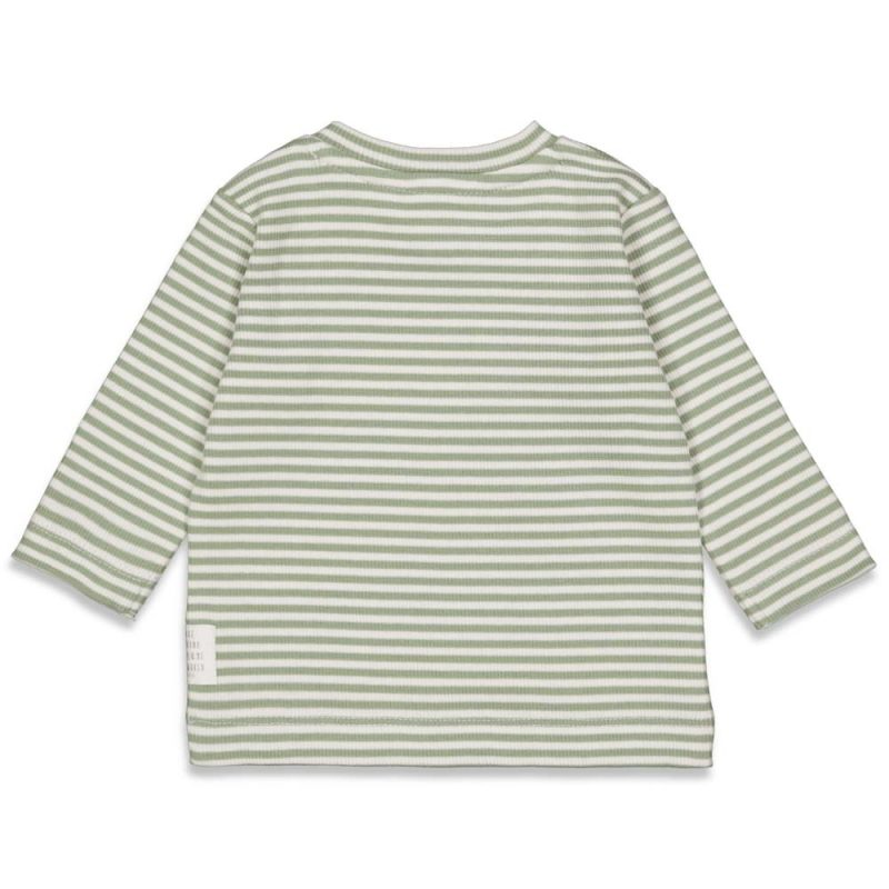 Camiseta de rayas en algodón orgánico para bebé - detrás