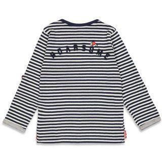 Camiseta de rayas de niño - detrás